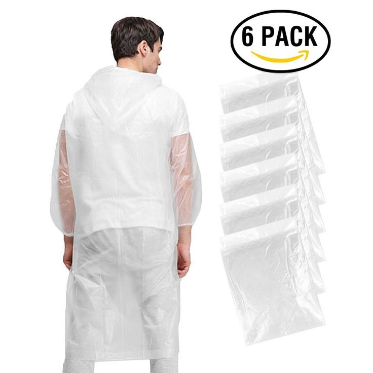 Disposable Poncho, KKtick Emergency Rain Poncho for Men Women Super Waterproof for Rainy Outdoor ( One Size Fit All ) - 6 Pack - - Amazon.com | @giftryapp