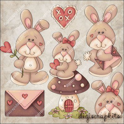 Sweethares 1 Clip Art Set