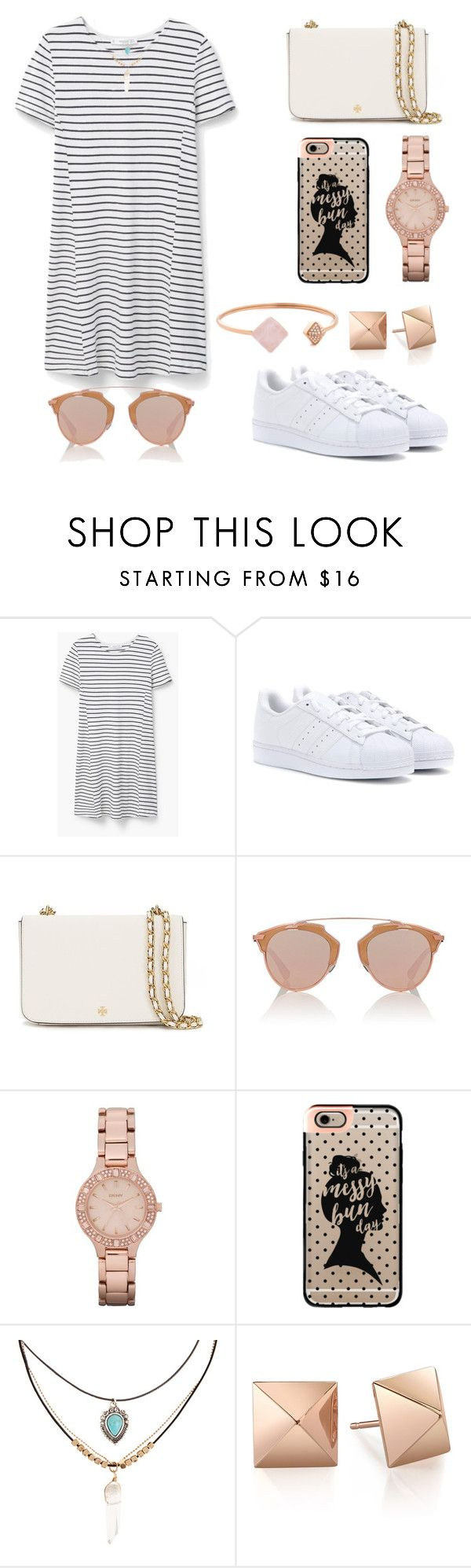 """Untitled #85"" by aly267 on Polyvore featuring MANGO, adidas, Tory Burch, Christian Dior, DKNY, Casetify, Accessorize and Michael Kors"