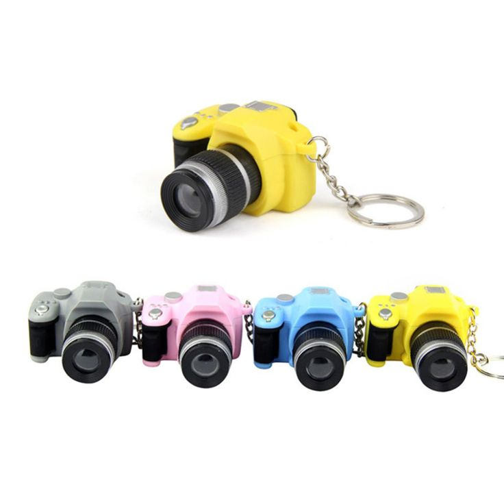 Plastic Toy Camera Car Key Chains LED Luminous Sound Glowing Pendant Keychain Bag Accessories Kids Digital SLR Camera Toy