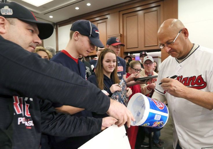 Cleveland Indians manager Terry Francona signs autographs, including a Double Bubble Gum plastic container, at the 2017 TribeFest held at the InterContinental Hotel at the Cleveland Clinic, in Cleveland, Ohio, on Jan. 28, 2017.   (Chuck Crow/The Plain Dealer)