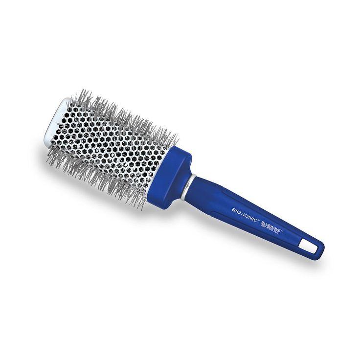 "Bio Ionic BlueWave NanoIonic Conditioning 2"" Square Round Hair Brush, Blue"
