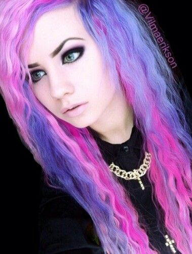 Purple and pink alternative dyed hair