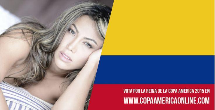 Candidata a Reina de la Copa América 2015, representando a Colombia Sandra Castaño  a Votar por tu favorita #ReinaCopaAmerica2015 http://ow.ly/Ojdjq