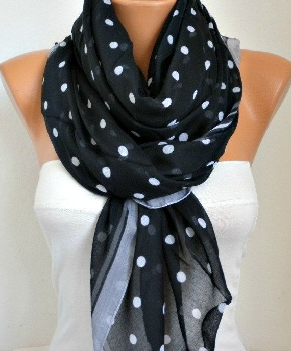ON SALE - Polka dots Scarf - Cotton Scarf Shawl Bridesmaid Gift  Multicolor Beach wrap Pareo