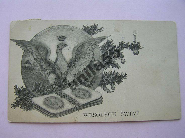 Patriotyczna KORONA ORZEŁ OPŁATEK -Świąteczna 1914