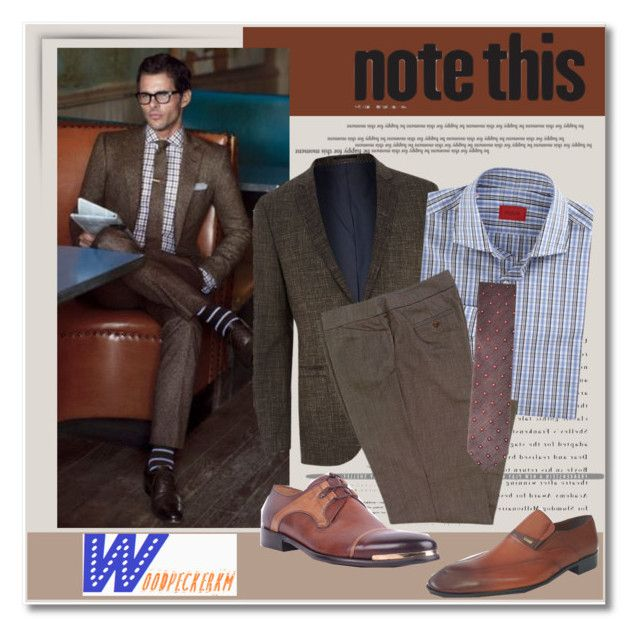 """""""Men's style/Woodpeckerkm.com"""" by helenevlacho ❤ liked on Polyvore featuring мода, River Island, Isaia и woodpeckerkm"""