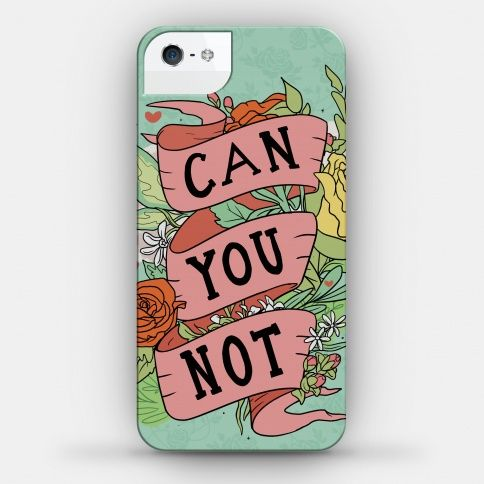 Can You Not? Floral Phone Case | HUMAN