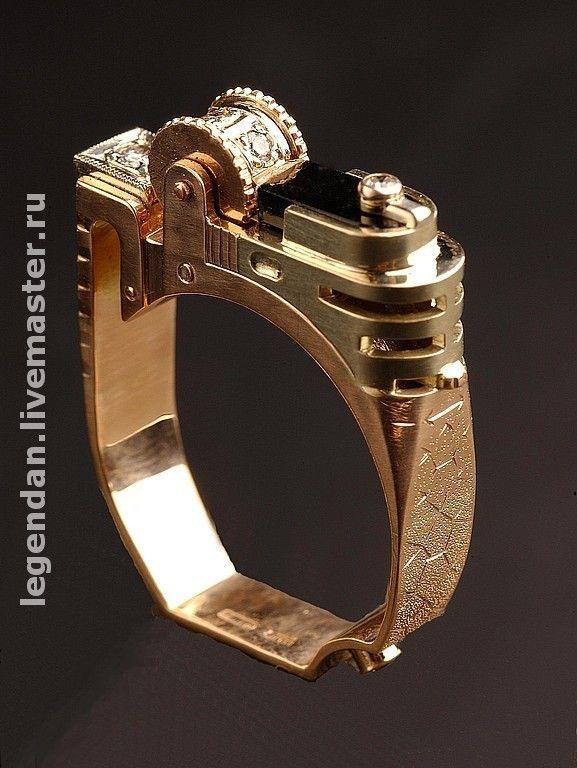 """Купить Золотое мужское кольцо """"Зажигалка"""" - кольцо, мужское кольцо, купить кольцо, подарок мужчине"""