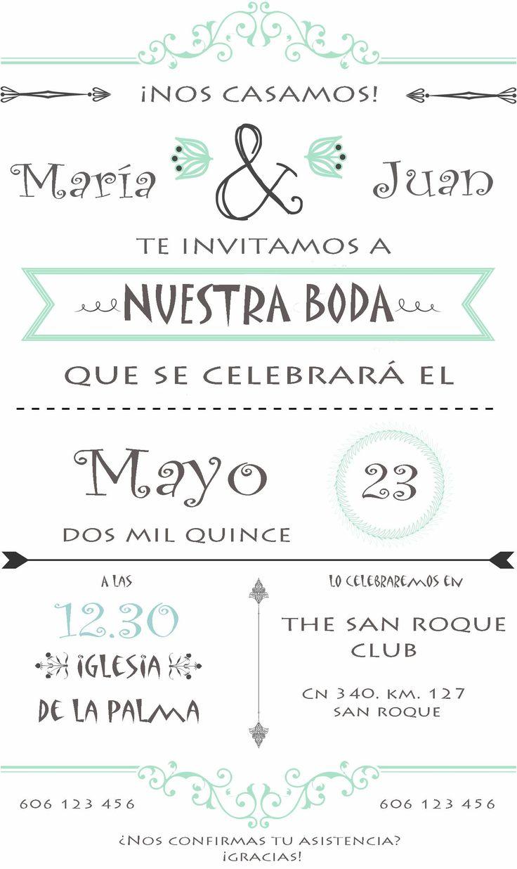 Invitaciones Boda Personalizadas Para Ver Desde El Celular E Imprimir Gratis 6 HD Wallpapers