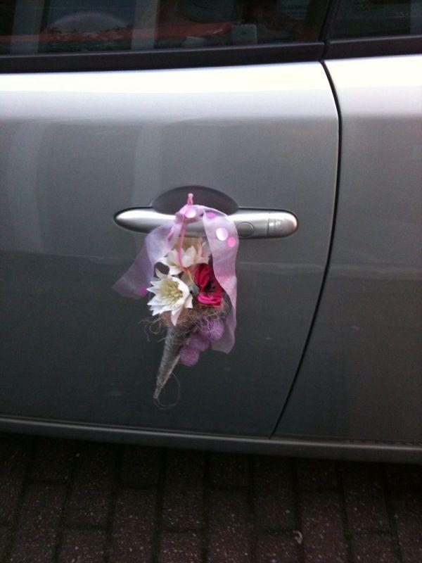Auto versiering Lieneke Smit #Bloemschikken #Decoreren pompoenzaden-decoshop.nl