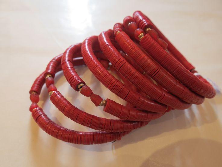 Multi-strand beaded bracelet, South Africa.