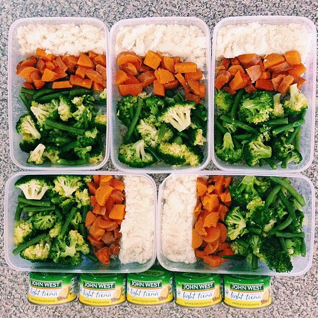 Sunday meal prep done!! These meals contain, 100g cauliflower 'rice', 80g sweet potato, 140g brocolli and green beans mixed which will be paired with a can of lemon and pepper tuna! The macros for the meals (including tuna) are approximately 200 calories, 20g protein, 30g carbs and 1.5g fat ☺️ #Padgram