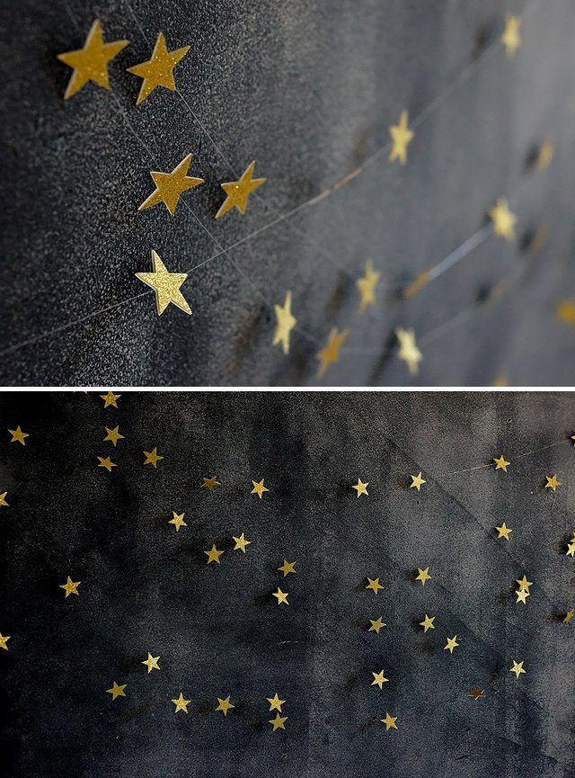 簡単DIYで手作りする星のガーランドデコレーション