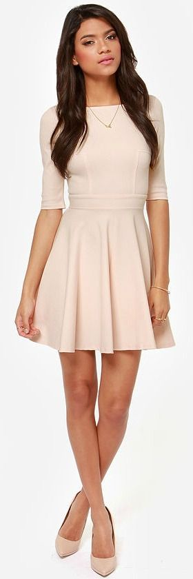 This is perfect Blush Skater Dress ♥