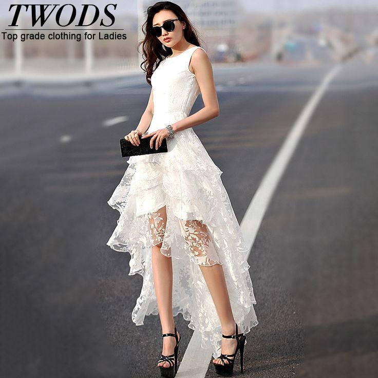 Twods-Fashion-2015-Organza-Layered-Women-Dress-Front-Short-Back-Long-Sleeveless-O-neck-Summer-Maxi.jpg (926×926)