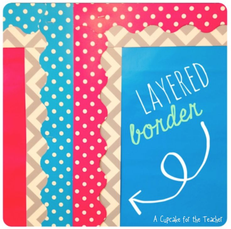 A Cupcake for the Teacher: Little Classroom Details- I am in LOVE with these borders!!!