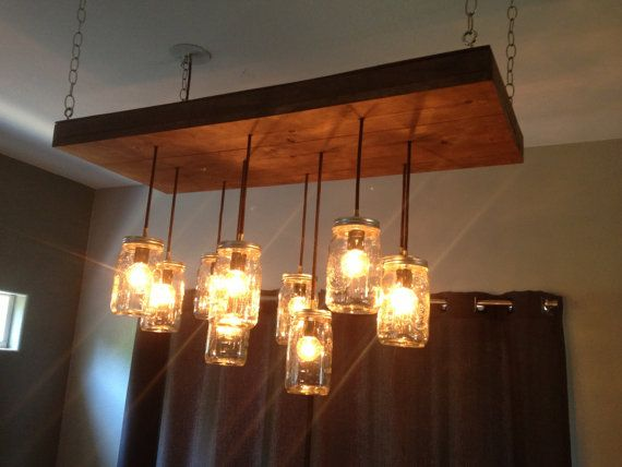 Mason jar lights etsy design decoration mason jar chandelier by barrettcustomwood on etsy love it aloadofball Gallery