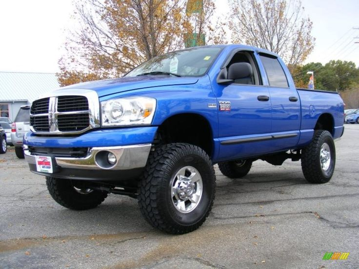 Blue Lifted Dodge Ram 2500 Truck Dodge Ram Lifted Trucks