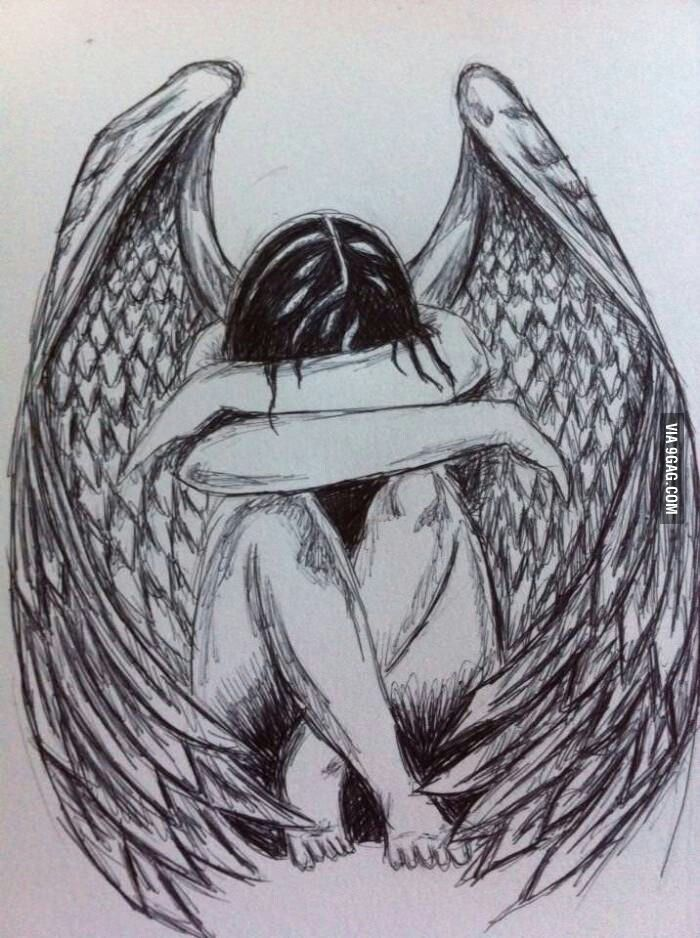 Someone's angel sketch.