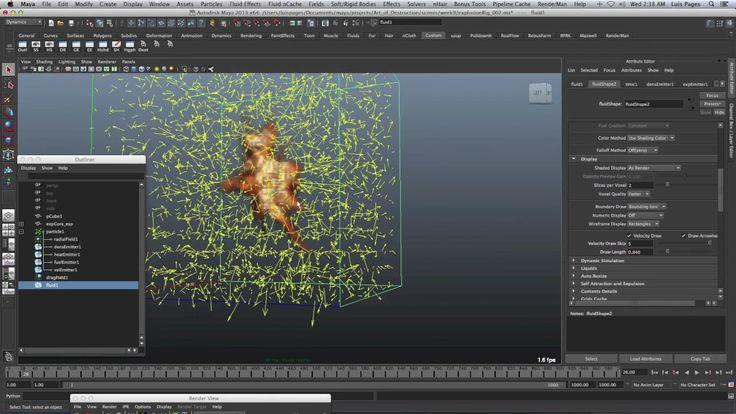 Muestra de mi Programa FX Power User: Maya Dynamics Master Class Semana 9. Inscríbete hoy en vfxlearning.com/spanish