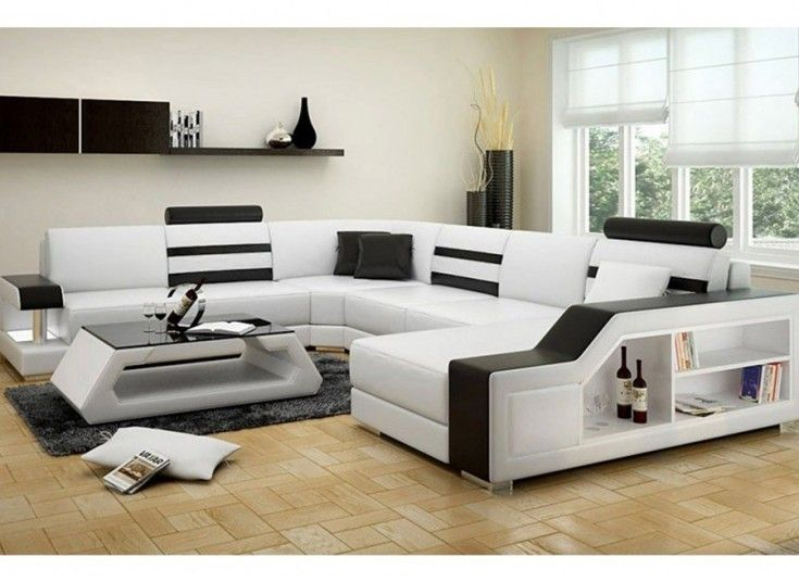 Tessie U Leather Sofa Lounge Set Modern House In 2019 Leather Sofa Lounge Sofa Sofa