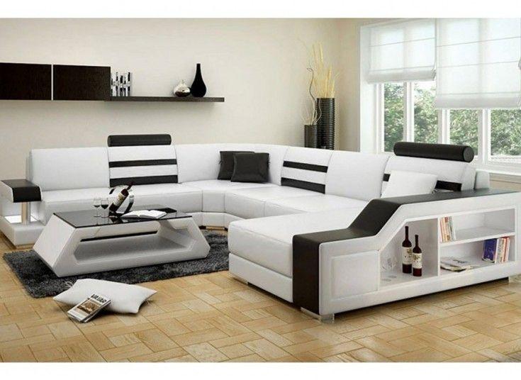 Tessie U Leather Sofa Lounge Set Modern Sofa Living Room