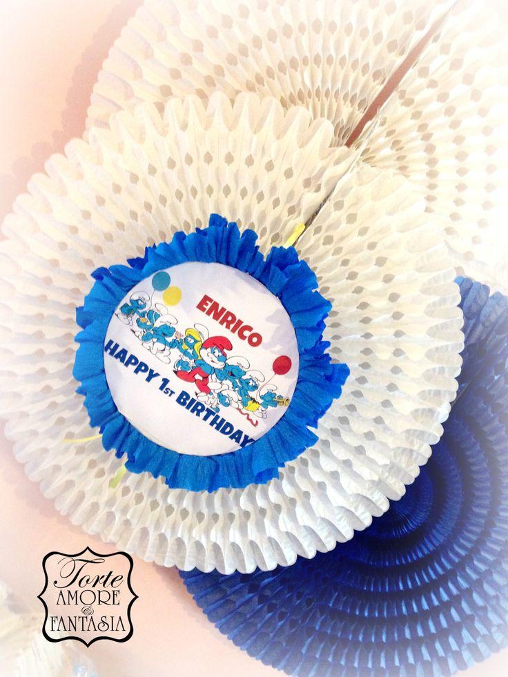 #Party a #Tema# #Personalizzati #Torte #Decorate #Smurfs #Party #Puffy #decorazione