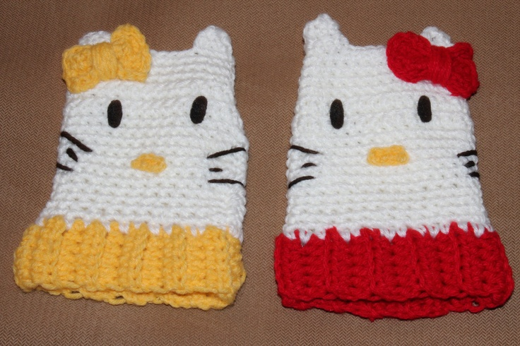 Hello Kitty Mittens Knitting Pattern : 136 best images about hello kitty on Pinterest