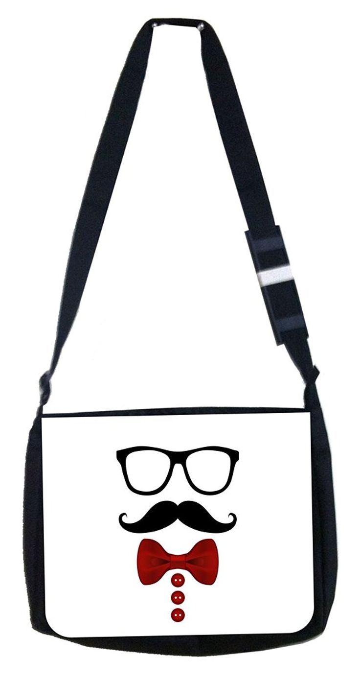 Hipster Rosie Parker Inc. TM Medium Sized Messenger Bag 11.75' x 15.5' and 4.5' x 8.5' Pencil Case SET *** You can get more details by clicking on the image.