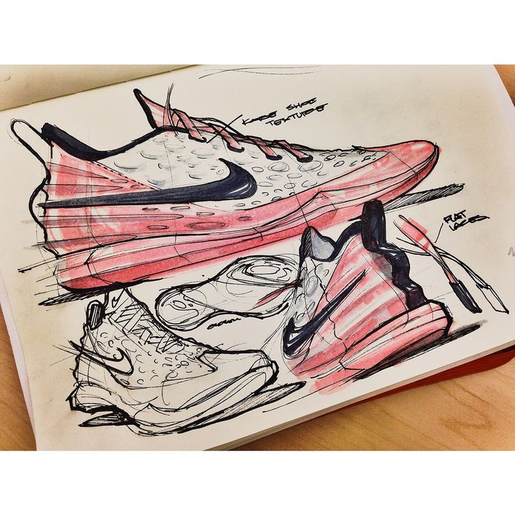 Sneakers sketches by Jalal Enayah