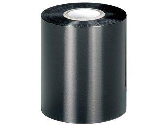 1 Rolle - 110 mm x 300 m - Thermotransfer Farbband Schwarz - AUSSEN gewickelt, Wachs-Premium-Qualität, geeignet für Papieretiketten auf Industrie Thermotransferdruckern mit Kerndurchmesser 25,4 mm (1 Zoll), Thermotransferfolie für Zebra ZM400, ZM600, ZT220, ZT230, S4M, Z4M, Z6M, S400, S600, XI-Serie