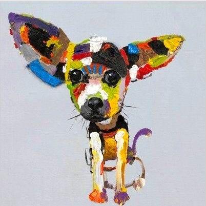 Tableau pop art chihuahua aux grandes oreilles