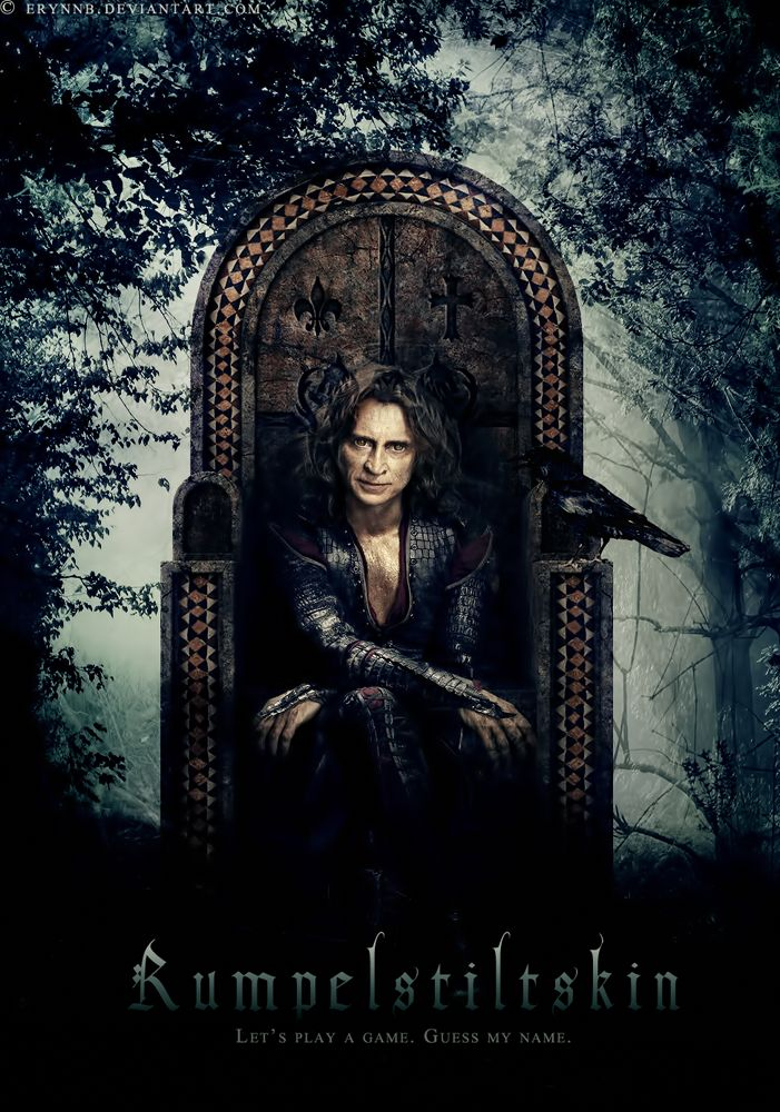 Rumplestiltskin/Gold. This guy's so twisted, but I can't dislike him. He's actually one of my favorite characters on the show (the others being Hook, Regina, Red and maybe Belle). Such a baddie turned heroic good guy...