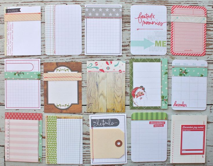 Mish Mash: Project December......3 x 4 Journal Cards