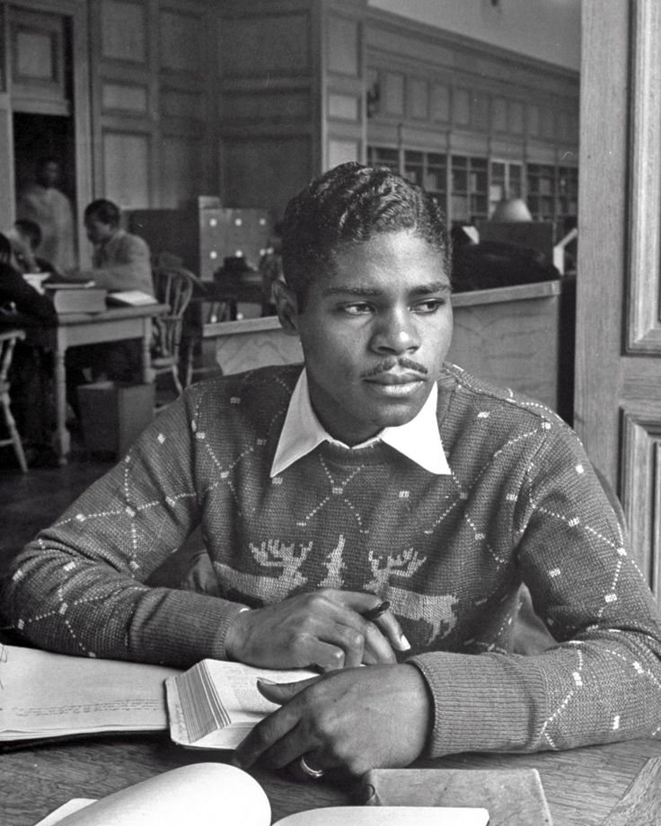 Vintage portraits at historically black Howard University, in 1946. Eugene Brown, a business major.