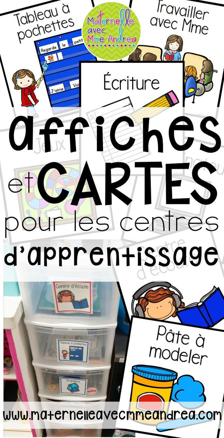 FRENCH Literacy Centre cards and posters | organisation des centres d'apprentissage | EDITABLE template | gestion de classe | centres d'apprentissage