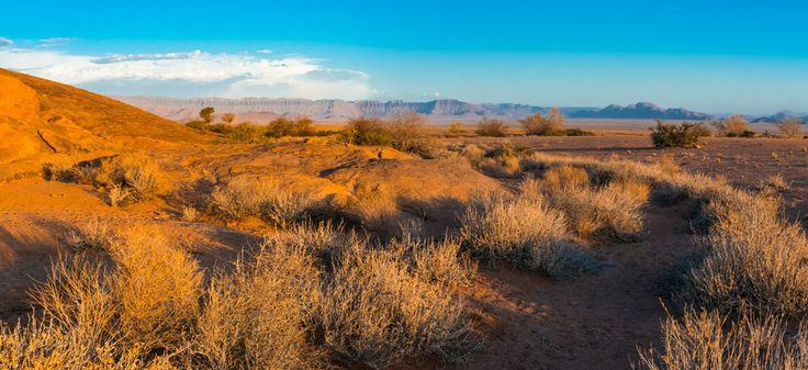Panorama van de Namib woestijn, Namibië