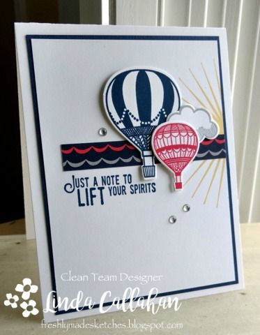 Hot Air balloons just seem to make people smile so I hope this card will do just as it says and lift someone's spirits! And I must...