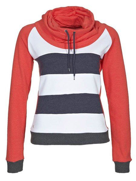 Casual Hooded Long Sleeve Drawstring Striped Women's Hoodie