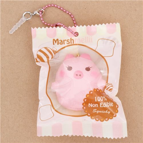 cute small pink pig with eyelashes scented squishy by Puni Maru - Puni Maru Squishies - Squishies - kawaii shop modeS4u