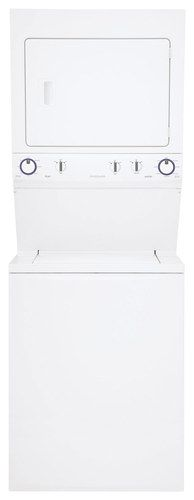 Frigidaire - 3.8 Cu. Ft. 8-Cycle Washer and 5.5 Cu. Ft. 4-Cycle Dryer Electric Laundry Center - Classic White