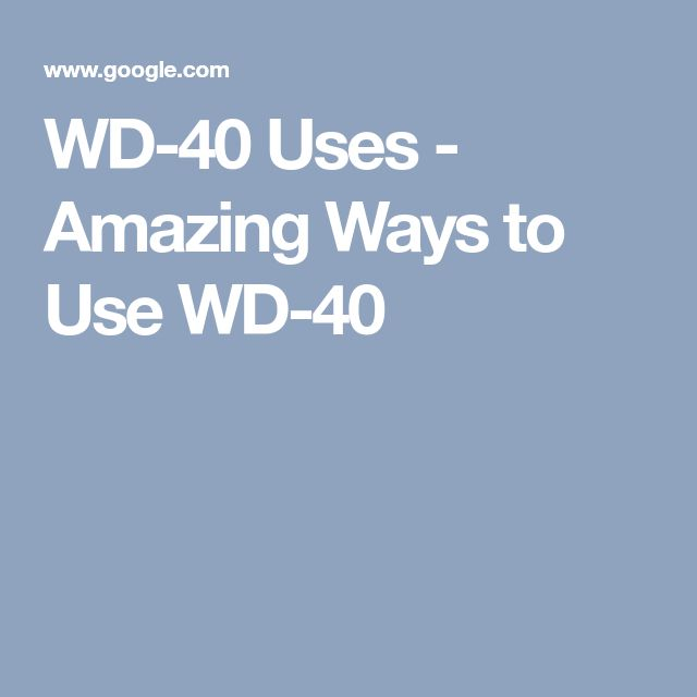 Populaire Best 25+ Wd 40 ideas on Pinterest | Wd 40 uses, House hold hacks  RP94