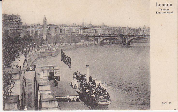 Peacock Brand Postcard - London, Thames Embankment - 3352B | PC02287