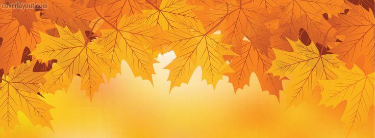 Autumn Fall Leaves Orange facebook cover CoverLayout.com