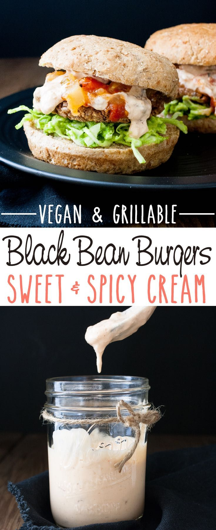 Easy Grillable Sweet and Spicy Vegan Black Bean Burgers with Mango Habanero…