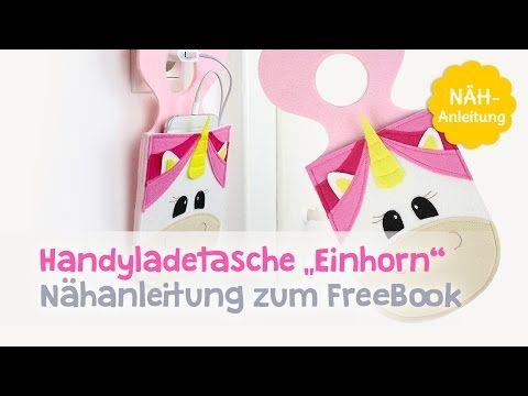 Einhorn Handyladetasche nähen | Kostenlose Schnittmuster | kullaloo