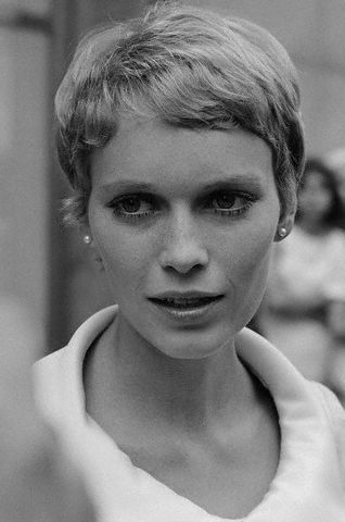 Mia Farrow Posing for Camera: Pixie Cuts, Pixie Haircuts, Style, Shorts Hair, Icons Haircuts, Mia Farrow Hair, Rosemary Baby, Haircuts Inspo, Hair Haircuts