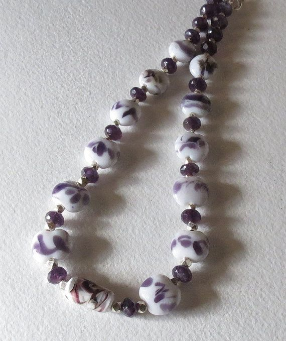 Amethyst Necklace with Sterling Silver and by Smokeylady54 on Etsy