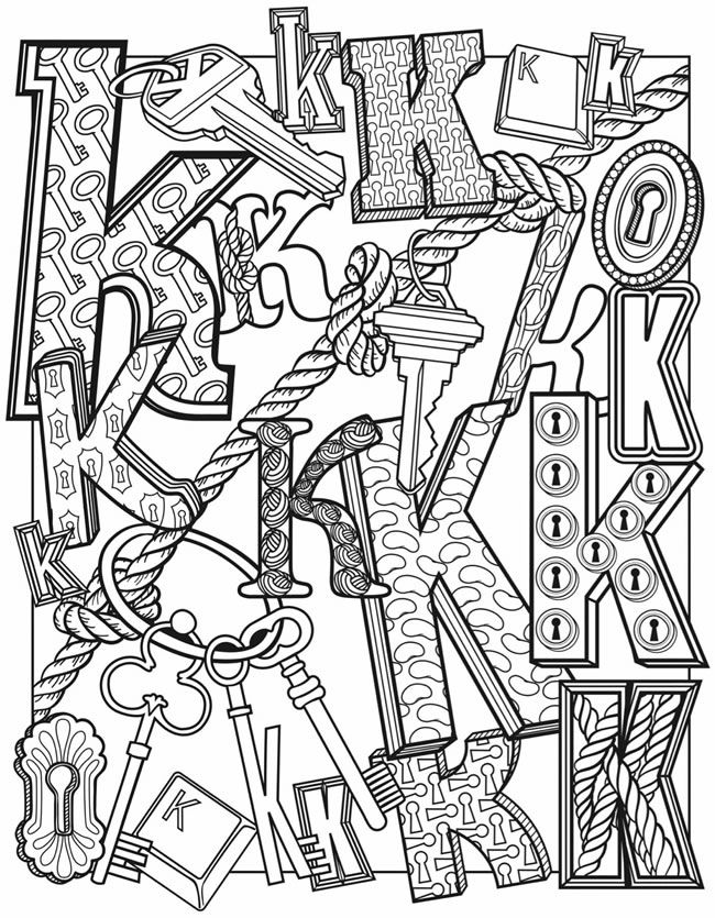Alphascapes Dover Publications - cool art lettering - patterns, zentangle, doodling letters. #artlettering